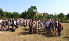 Rozpoczęcie rajdu szlakiem 3. Pułku Ułanów Wielkopolskich (link otworzy duże zdjęcie)