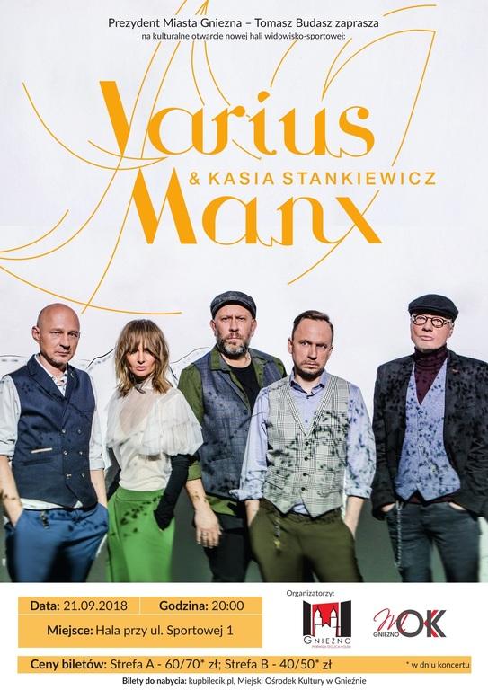 Plakat zapowiadający koncert Varius Manx (link otworzy duże zdjęcie)