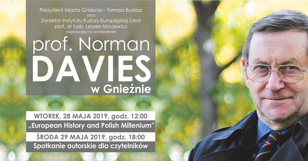 Profesor Norman Davies spotka się z gnieźnianami (link otworzy duże zdjęcie)